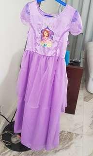 Sofia the First dress gown pyjamas