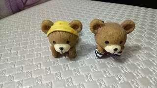 🚚 可愛熊熊擺飾,一對,二手久放保持良好,可面交。