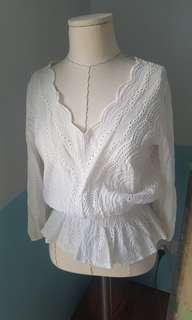 🚚 Lace detail white top
