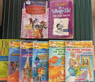 Free 6 Geronimo Stilton Books, wimpy kids. Roald Dahl with purchased of Encyclopedia for kids,parents teachers adults etc..