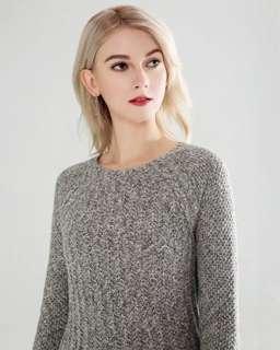 Hollister優雅顯身材修身顯瘦灰色A字針織連身裙HCO gray knitted skater dress A&F Abercrombie & Fitch AF AEO CK