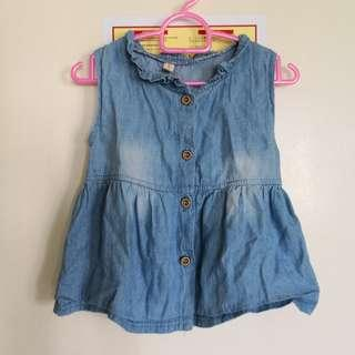 🚚 FOC 9M denim dress with buttons