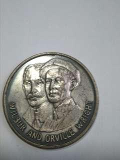 Aviation 🏅 commemorative coin / medal, Wilbur and Orville Wright, First powered flight December 17, 1903