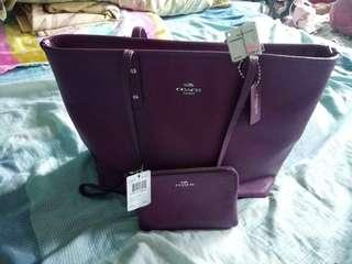 Coach tote bag and wristlet
