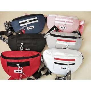 Unisex Fila Canvas Waist Pouch / Cossbody Bag