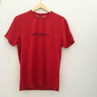 READY Givenchy T Shirt Logo  Red size S M