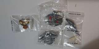 Harley Davidson 哈利 鎖匙扣 胸口扣 金屬扣