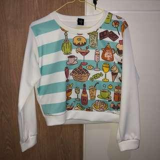 NEW Sweater crop tee