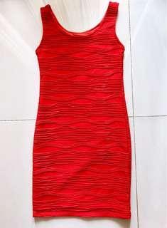 Bodycon dress texture (mirip) Pull & Bear