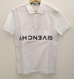 READY Givenchy Reverse Polo Shirt White size M L XL