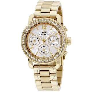 🚚 Coach Legacy Sport Silver Dial Ladies Gold Tone Watch 14502370