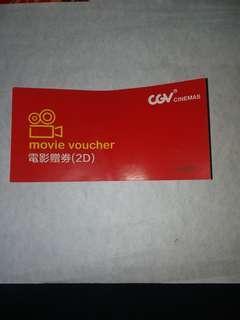 CGV  cinemas movie voucher (2D)   包郵