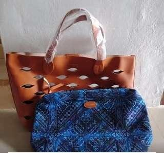 (weekend reprice)Tas 2 in 1 batik handbag slingbag #turunharga