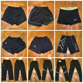 🚚 fbt shorts / nike pro 2xu tights / adidas cellerate fbt trackpants / RI RGS pe shorts