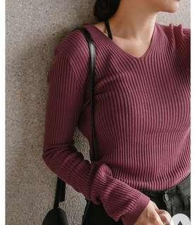 🚚 Mercci22 針織透膚上衣