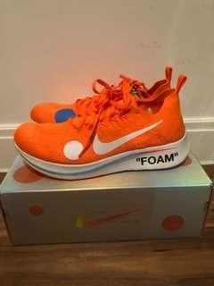 US 11.5: Off White Nike Mercurial Zoom Orange