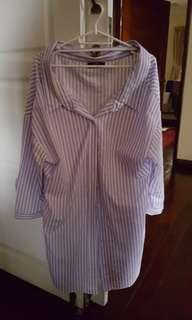 Bershka Wide Neck Shirt