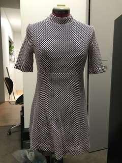 High neck crochet shift dress size small