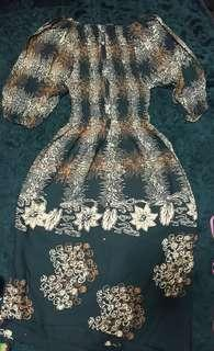 Dress kain cotton batik indonesia