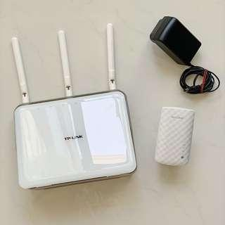 TP-Link Archer C8 Router And AC750 Wi-Fi Extender