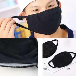 BN Man Cotton Face Mask (washable) Black on both sides