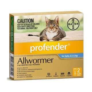 PET - Profender CAT AllWormer - 2.5-5kg / 5-8kg 寵物 滅蟲
