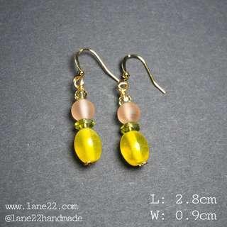 🚚 Glass beads handmade earrings in summer style