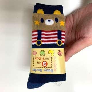 🚚 可愛童襪三雙合售 止滑 中筒 約6個月-3歲適穿 腳長9-15公分 寶寶襪 全新品出清