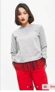 Cotton ink top grey tutu size M
