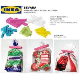 IKEA BEVARA Sealing Clip Set of 30 Mixed Colors