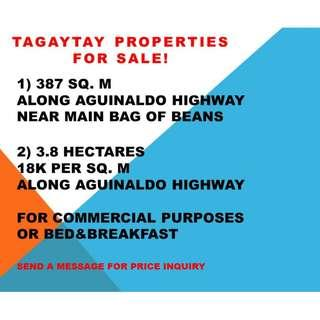 Tagaytay Commercial Land along Aguinaldo Hway