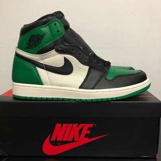 US 9.5 Air Jordan 1 Pine Green