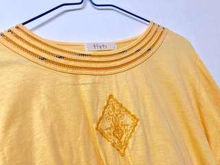 黃色 長䄂衫 日本製