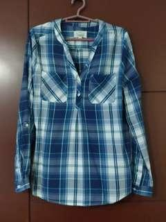 Blue Checkered Long Sleeves