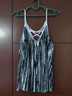 Zebra Print Spaghetti Strap Top