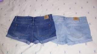 雙色牛仔短褲組