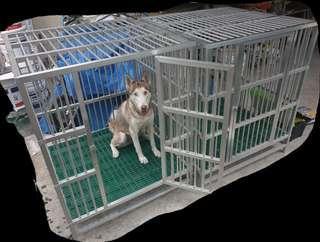 Large Aluminum Dog Cage