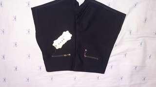 全新彈性黑色短褲