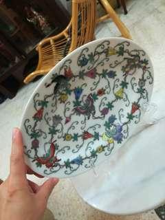 Vintage handpainted porcelain plate