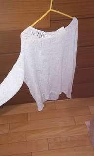 全新 刷破設計針織衫
