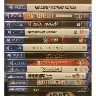 NEW PS4 READY STOCK GAMES