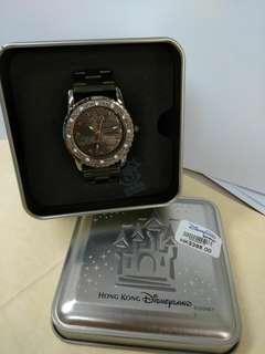 正貨廸士尼全新女裝黑鋼帶錶