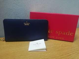 Kate Spade Zipped Wallet (Dark Blue)