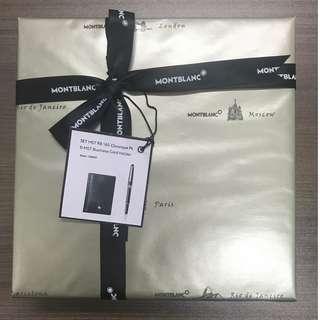 Mont blanc card holder and pen set