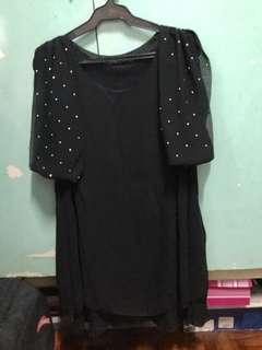 Elegant Plus Size Black Dress