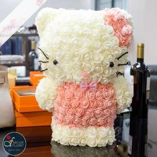 "42cm Immortal Eternal Soft Eynthetic Faux Roses ""Hello Kitty"" | Rose Flower | Flower Bouquet | Flower | Flowers | Soap Flower | Rose | Roses"