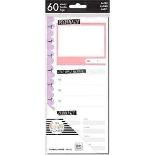 Medium Happy Planner Half Sheet Fill Paper - Currently