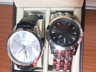 🚚 U.S. POLO ASSN.  鋼錶 皮錶 對錶 石英錶