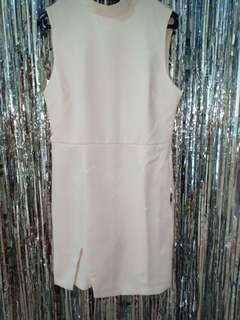 F21 white dress size m