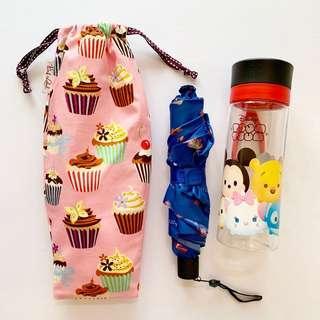 🚚 Umbrella/Bottle Wet bag , Water leak proof , washable , reusable , stylish and Eco-friendly ! Cupcake